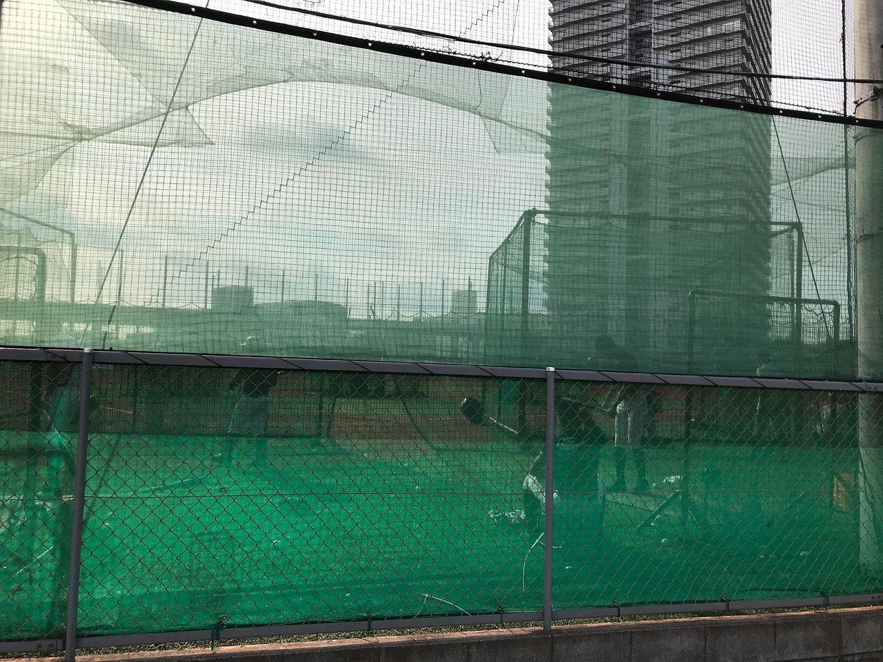 岡山フェアレーン東/ファミールタワーマンション北西 商大附属のグラウンド
