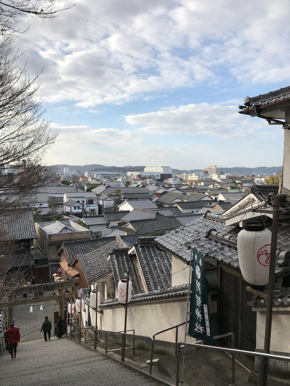 倉敷阿智神社から町を一望