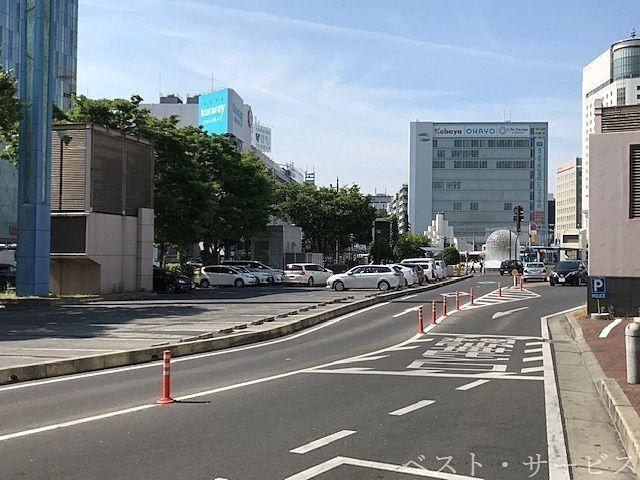 岡山駅前自動車整理場前 交番北 コインロッカー大・小あり
