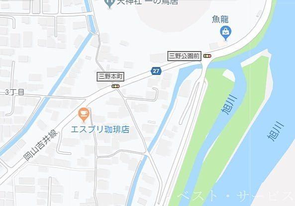 岡山吉井線と北区北方の「吉備土手下麦酒普段呑み場」のところから川沿いに北へ、三野浄水場を過ぎ、突当りが用水引込口です