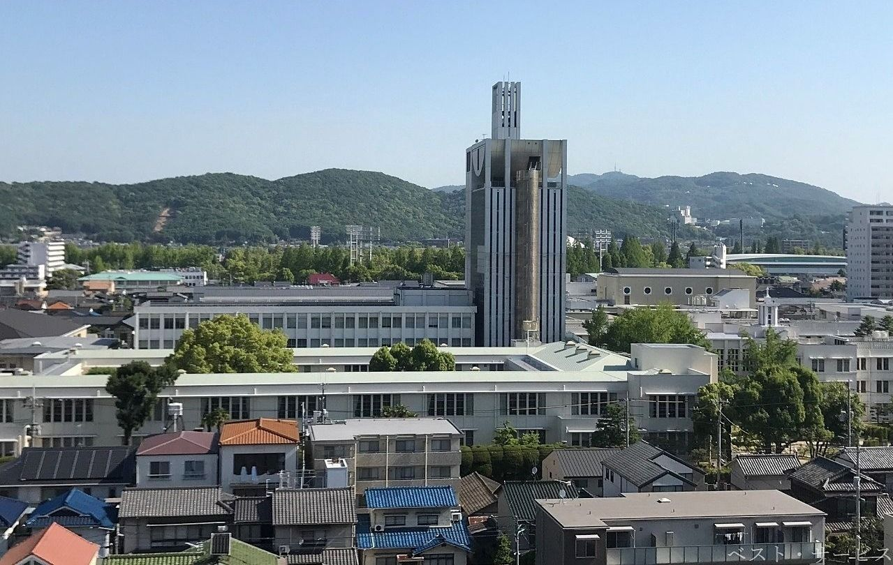 岡山市北区伊福町 ノートルダム清心女子大学のある風景