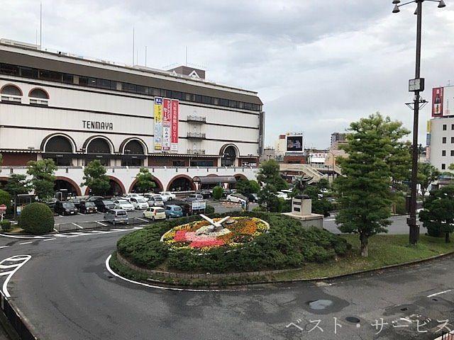 JR倉敷駅,倉敷駅南の風景,天満屋倉敷店,倉敷駅ロータリー