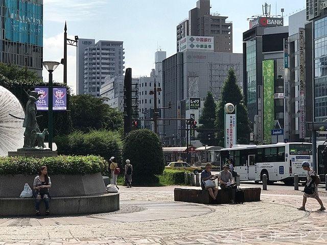岡山電気軌道、路面電車乗り入れ場となる岡山駅前広場
