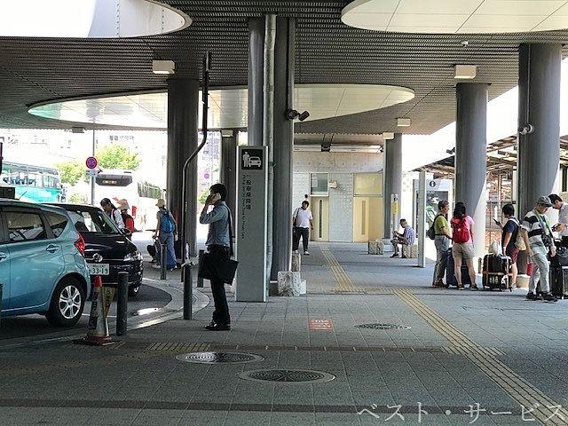 岡山駅西口ひろば,お迎えの待ち合わせ場所,一般車乗降場ロータリー