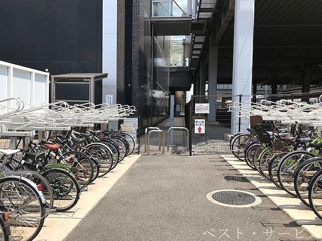岡山駅西口ビル自転車専用駐車場,駐輪場,さんすて南隣