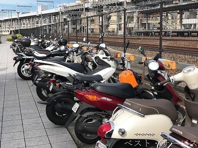 原付・自動二輪/岡山駅西口第2自転車等駐車場