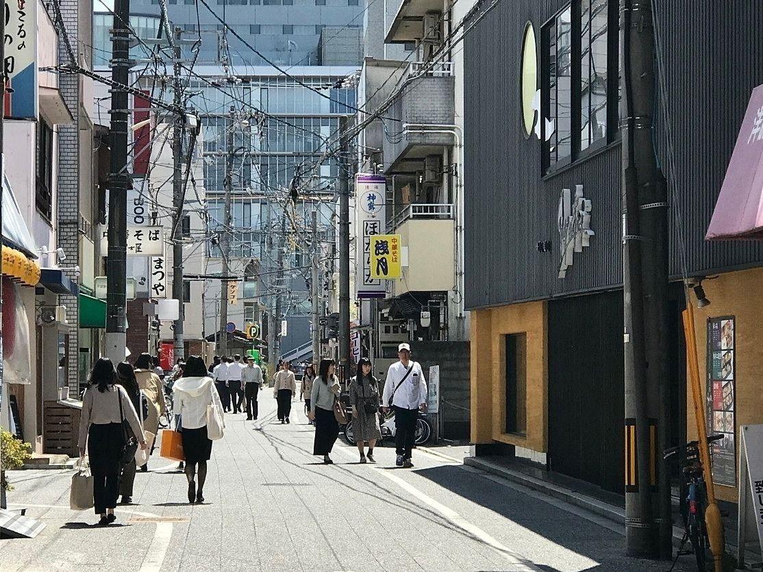 岡山駅西口から奉還町商店街まで250mは飲食店が続く,Ryoutei,浅月,男うどん,まつや,中華そば冨士屋,