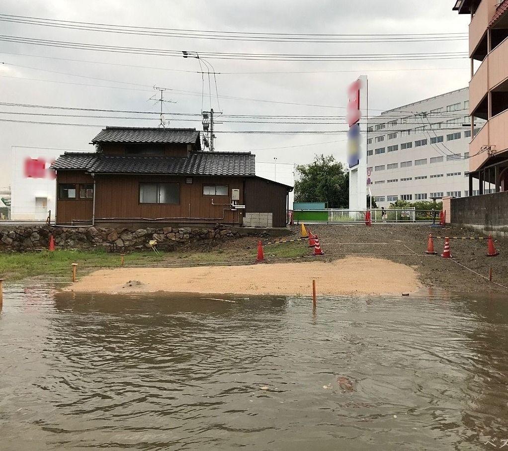 浸水被害,洪水,浸水,浸水・洪水ハザード,岡山市北区中井町,床上浸水,大雨,洪水警報,洪水時避難所