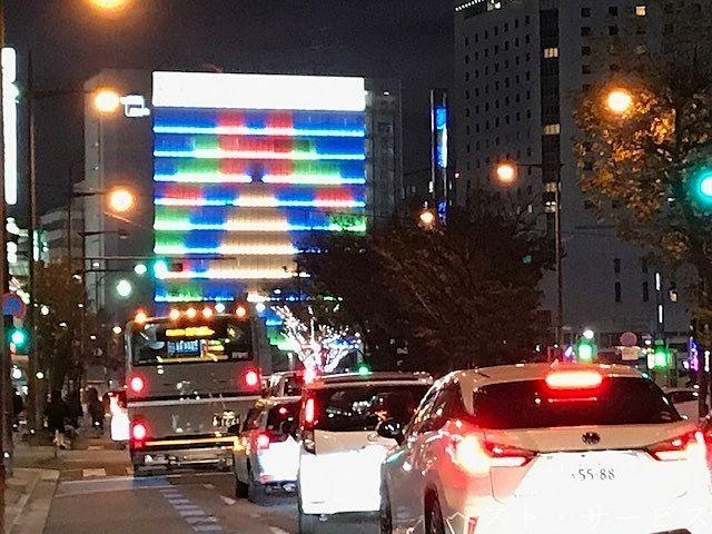 岡山駅前・クリスマスのイルミネーション