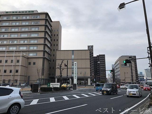 岡山駅西口筋/国体町筋,国道53号線沿い