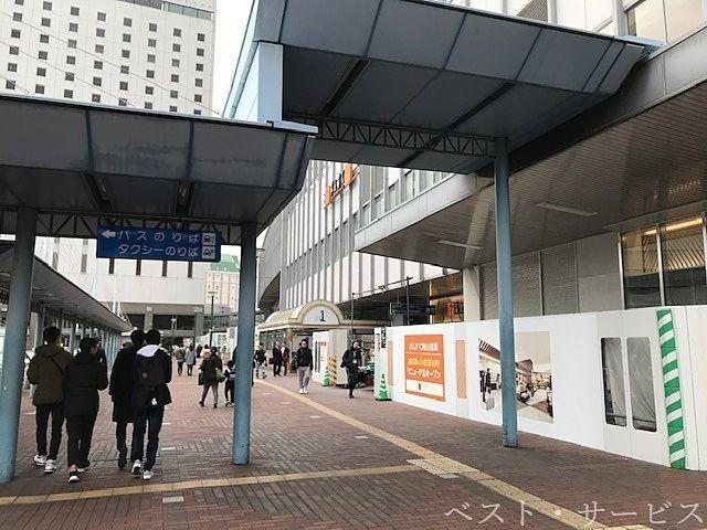 JR岡山駅の改装進む,東口の商業施設のリニューアル