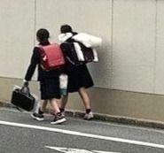 公立小・中・高一斉休校/下校風景