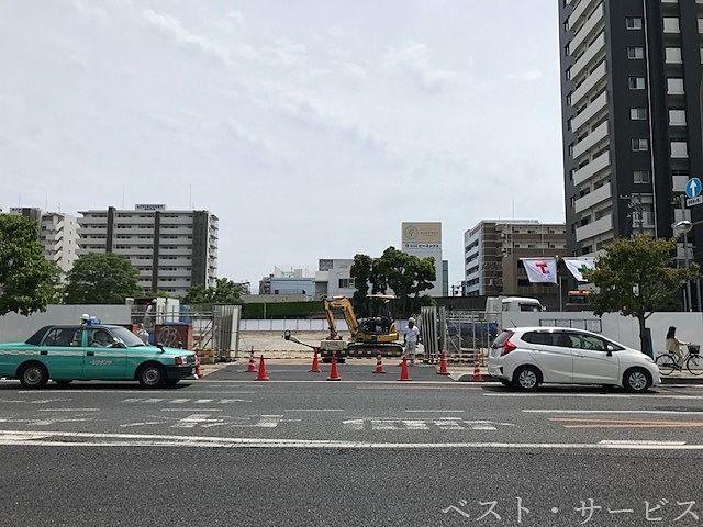 昭和町再開発,天満屋ハピーズ建築現場,天満屋ハピーズ着工
