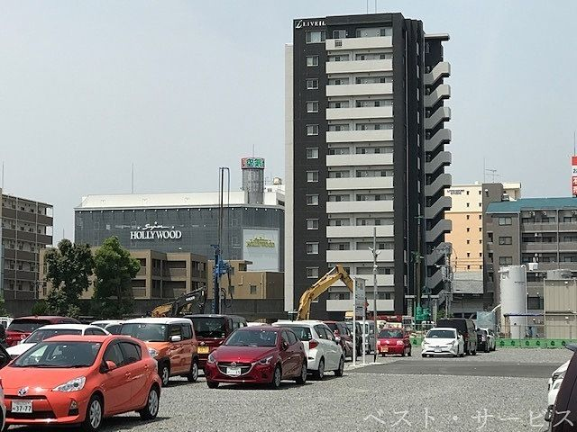 昭和町再開発の様子,天満屋ハピーズ着工(R2.5月下旬),長谷工コーポレーションマンション予定地