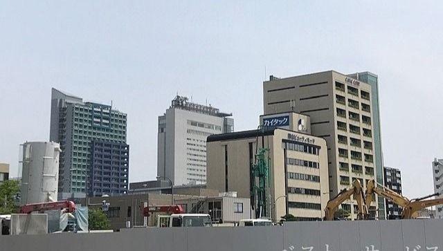 昭和町再開発の工事現場,フォーラムシティビル,カイタック本社ビル,リットシティビル,岡山ビューティモード