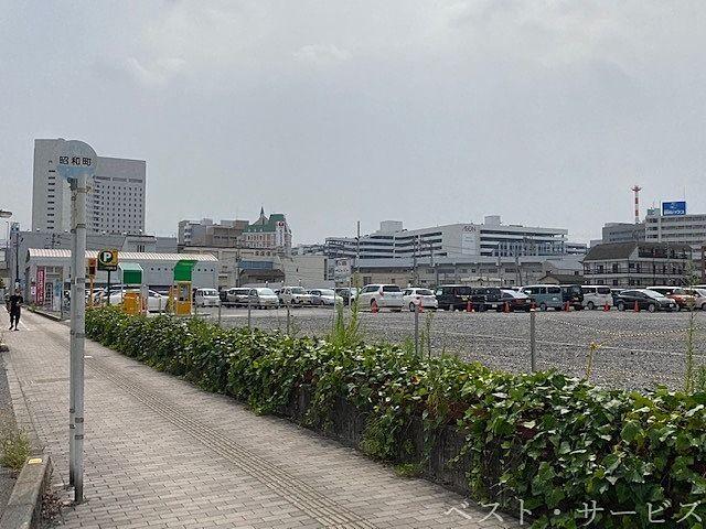 岡山市北区昭和町再開発地,三井のリパーク短期利活用中,