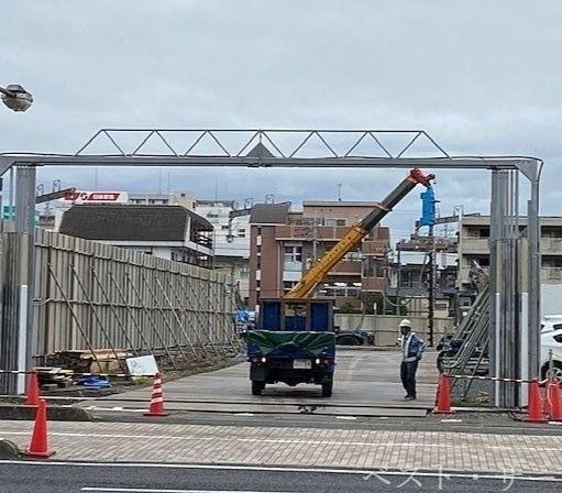 昭和町再開発地/遊プラザ跡地の建設現場⑤