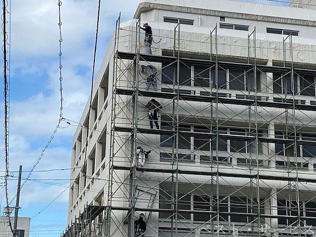 岡山中央奉還町病院解体現場,岡山中央病院へ移転統合,