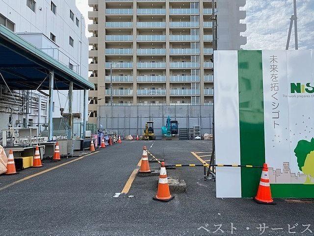 岡山中央奉還町病院の解体現場