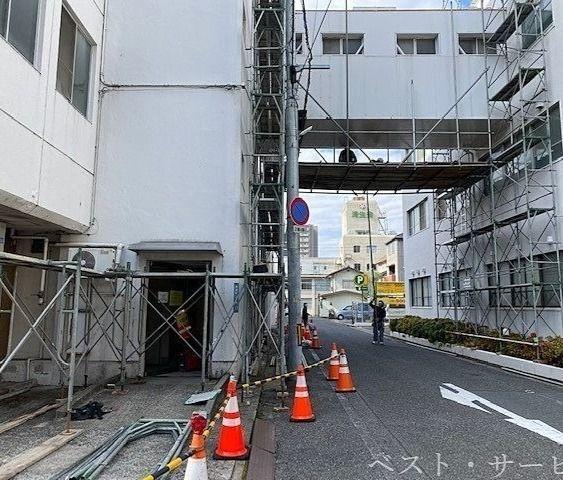 岡山中央奉還町病院解体始まる