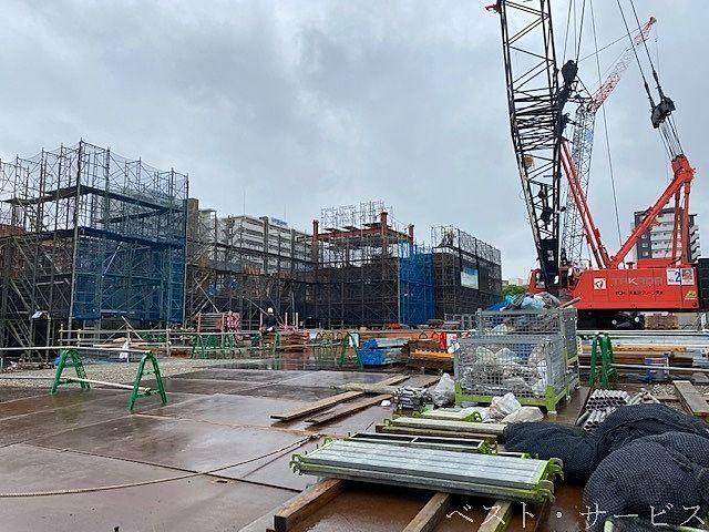 昭和町再開発工事現場,長谷工コーポレーション