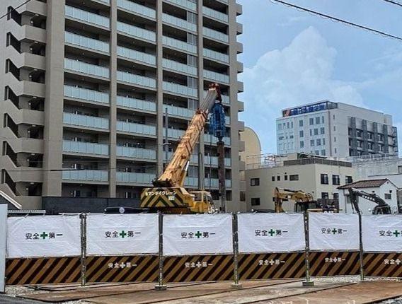 奉還町中央病院跡地のマンション建設始まる①