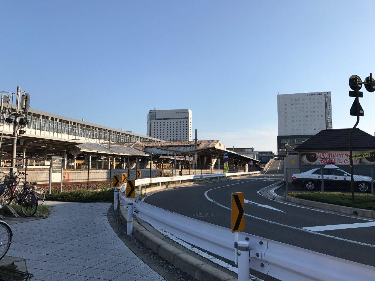 岡山駅西口交番より北150mまで