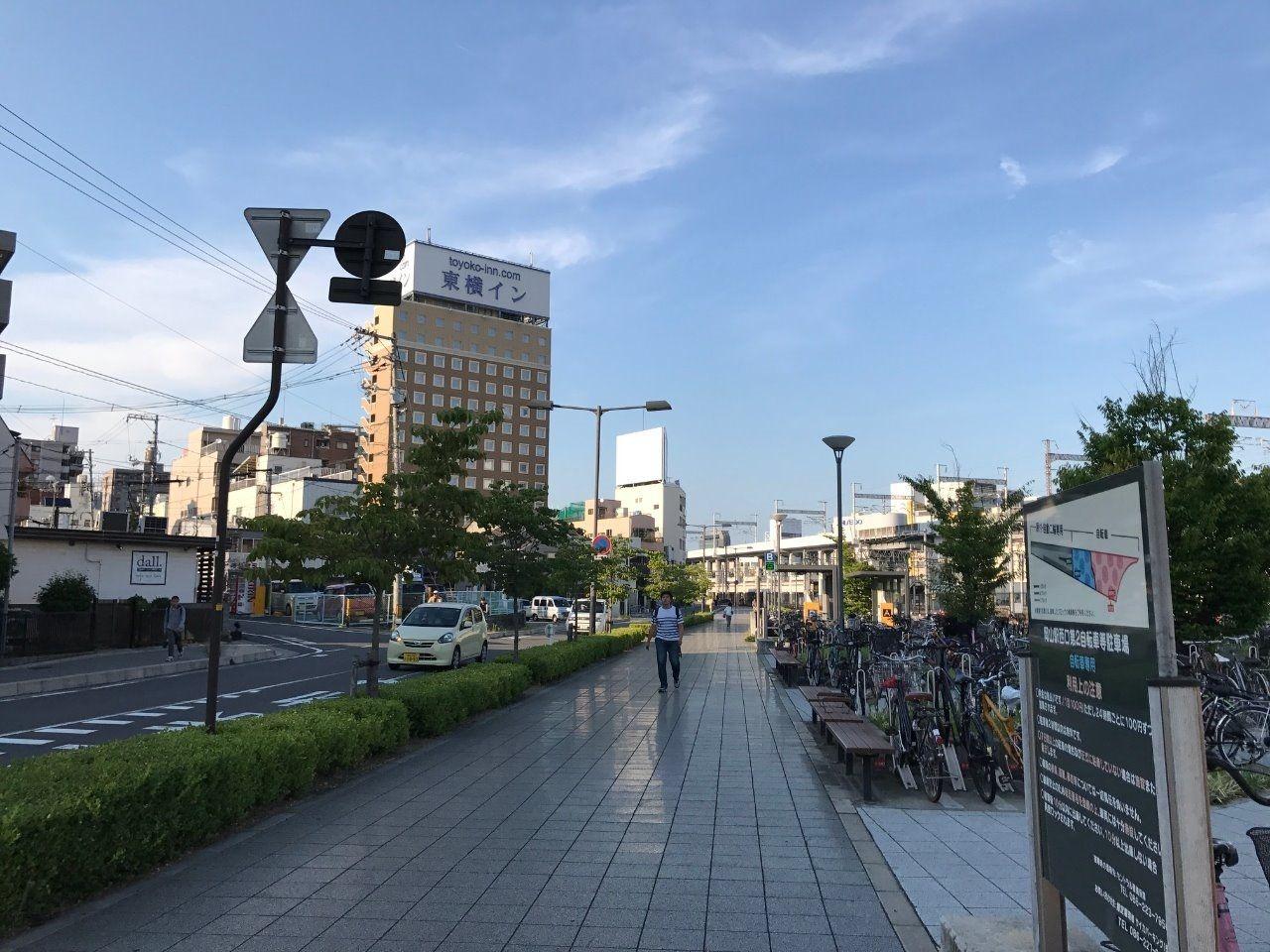 東横イン岡山西口右まで駐輪場(150m)