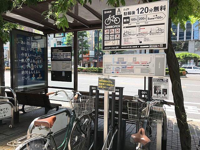 岡山駅前,桃太郎大通りの駐輪場