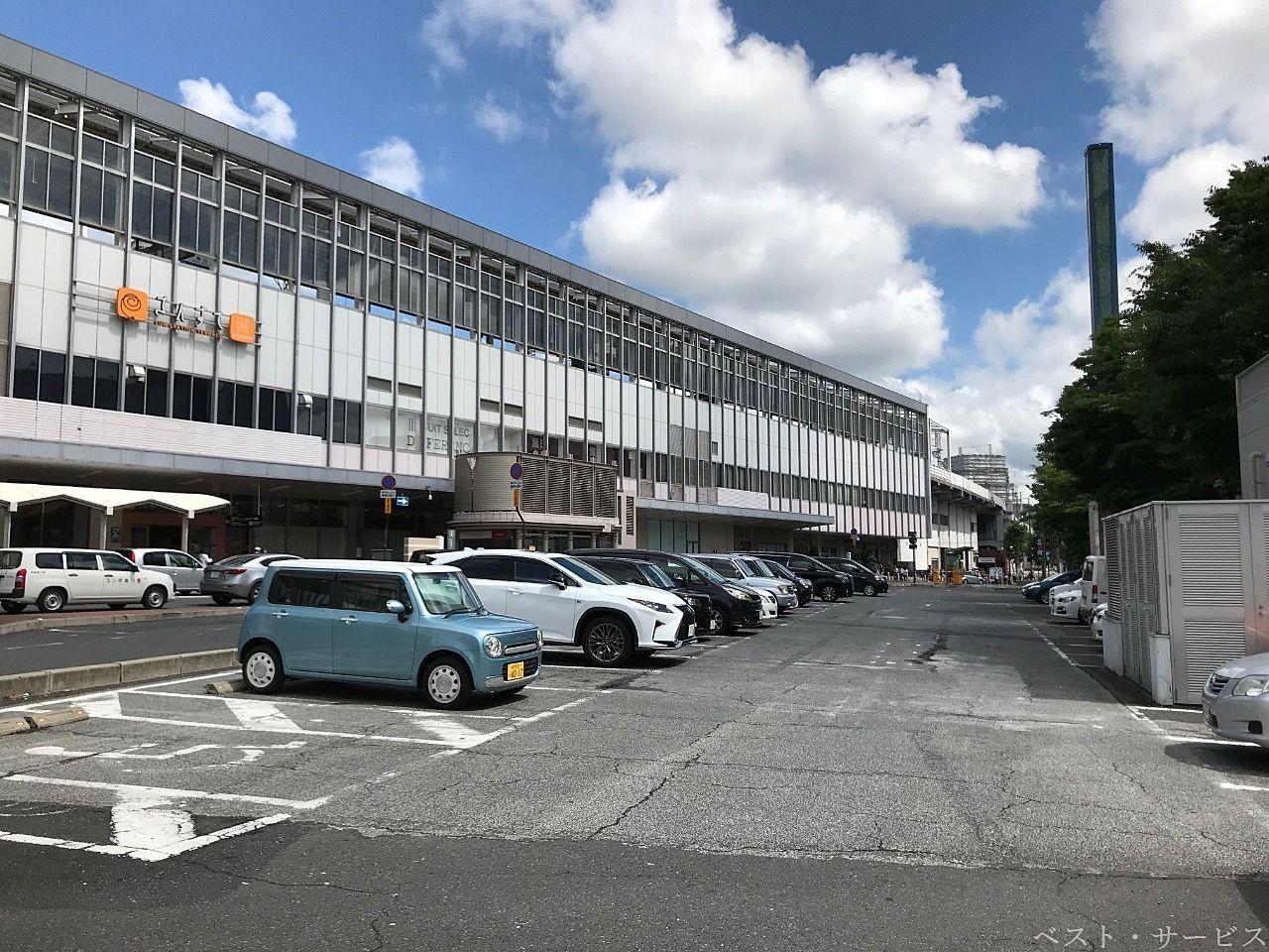 JR岡山駅・東口/岡山駅前自動車整理場