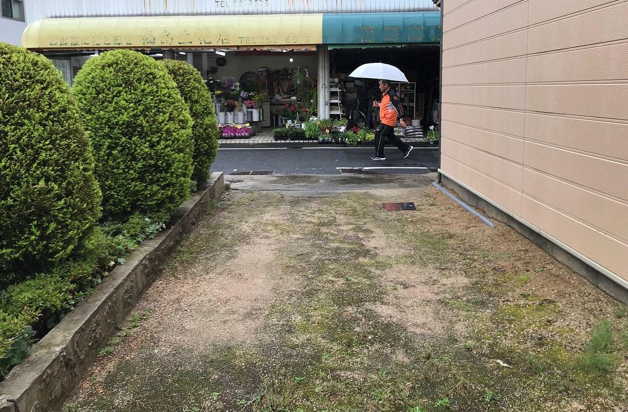 岡山市北区伊福町にある小さな月極駐車場