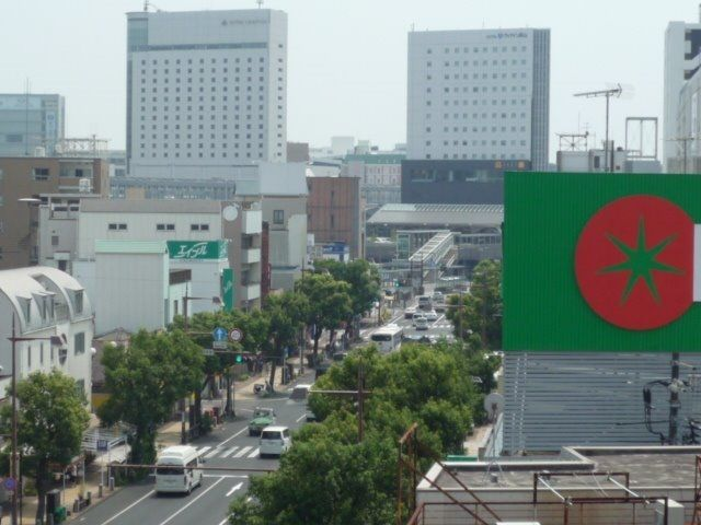 岡山駅から国体町までの通り