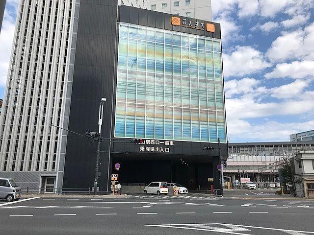 岡山駅西口/西口筋から駅構内へ送迎のため乗り入れたい方はここから入ります