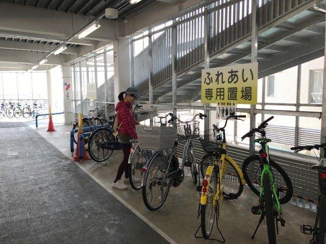 岡山駅西口・駅元町北自転車駐車場は全天候型