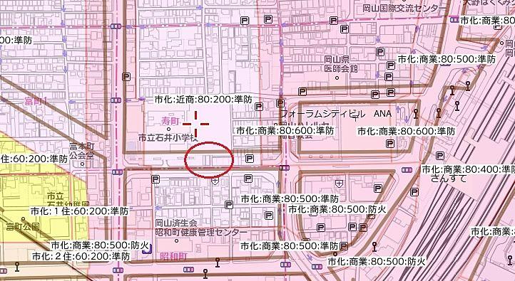 岡山駅西口 駅元町 寿町 昭和町 富町