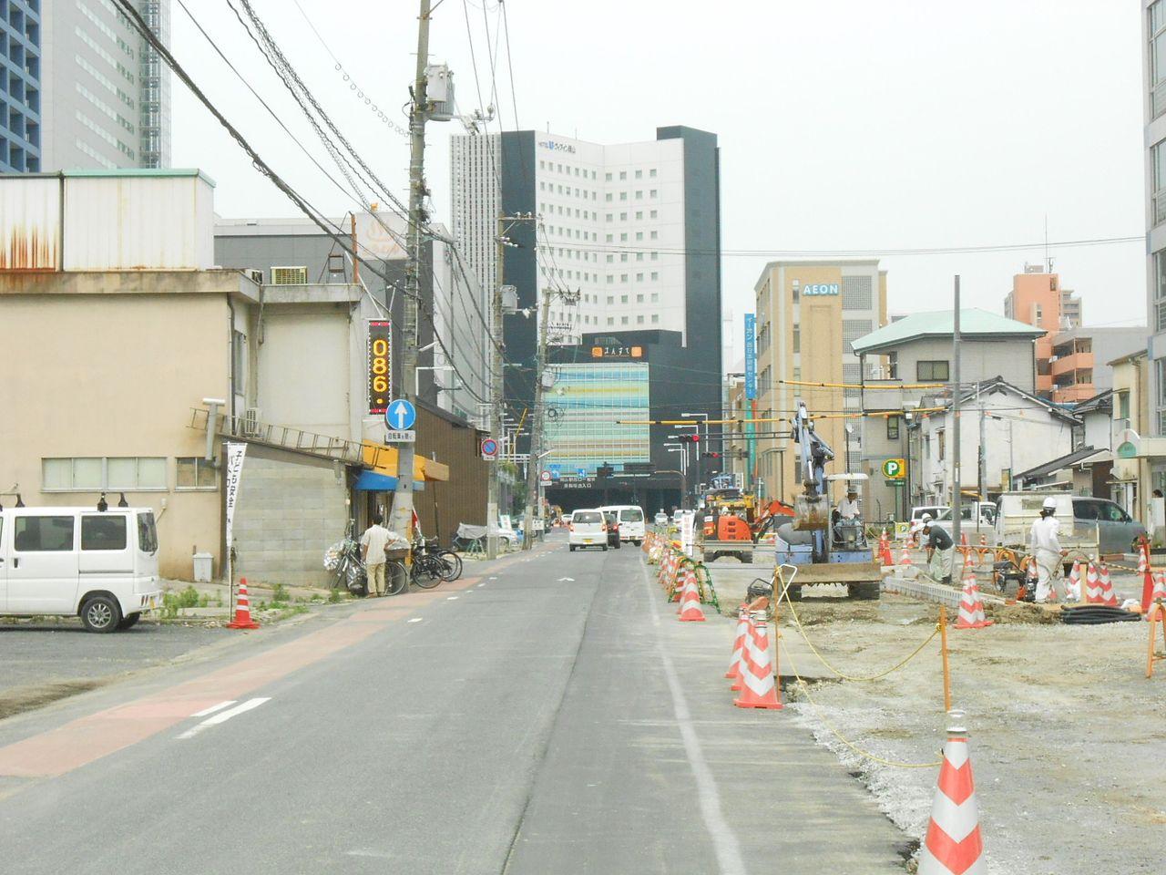 岡山市北区 画像左側が寿町 右側が昭和町