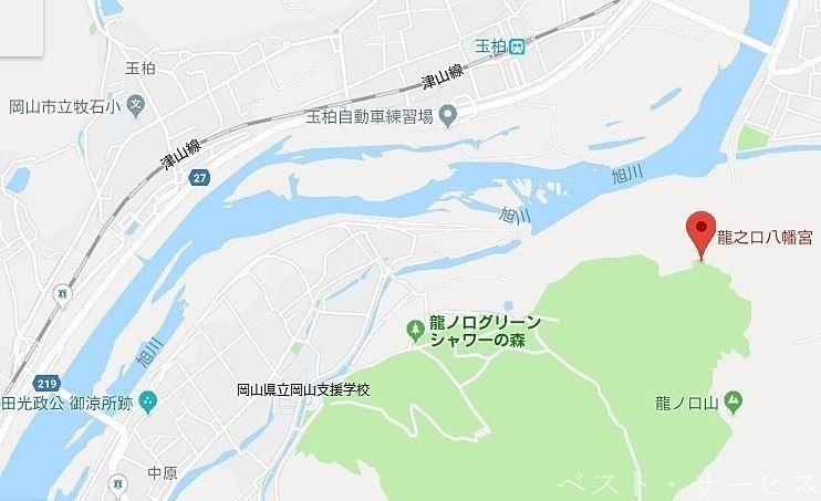 岡山県立岡山支援学校「旭川荘」、中原橋、牟佐刑務所の近く