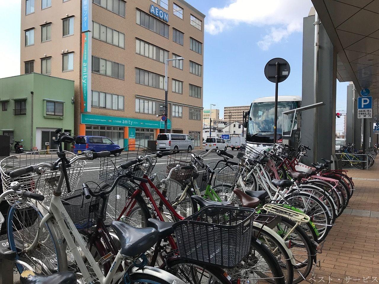 自転車が整然と並んでいると見た目がスッキリです