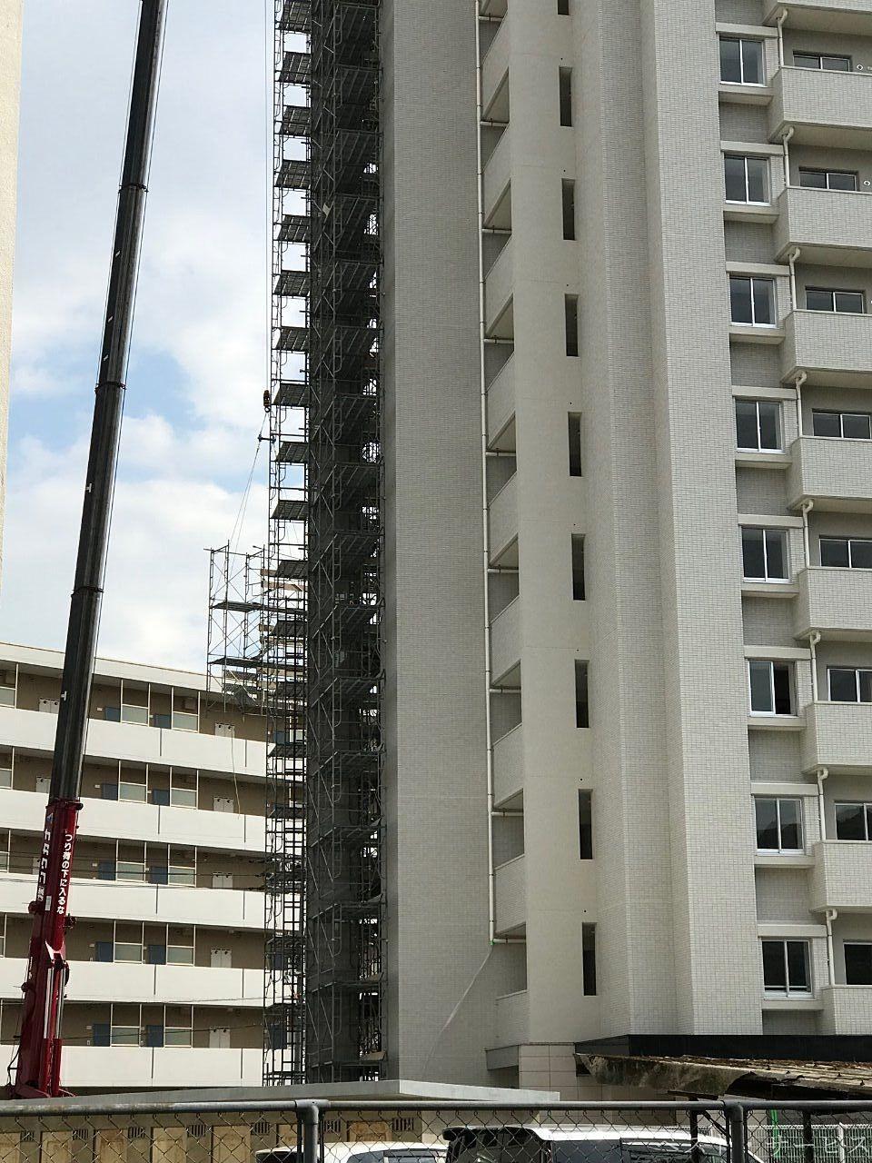 岡山医療センター伊福宿舎西隣のマンション