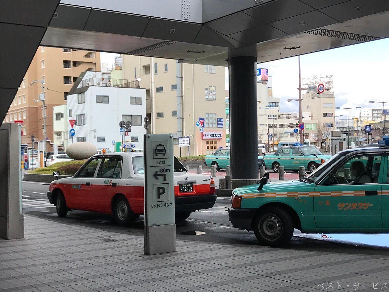岡山駅西口の西向い