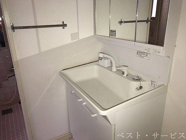 1階 洗面脱衣所 独立洗面台/シャワーヘッド付