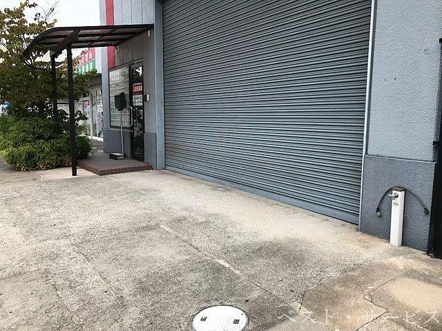 ガレージ・シャッター前(玄関先)のスペース