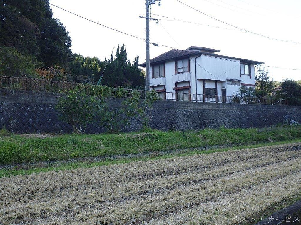 田んぼのある景色を眺めながらの散歩道